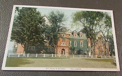Old Postcard  CONCORD, NEW HAMPSHIRE   {ST. PAUL'S SCHOOL--LOWER SCHOOL--1927}