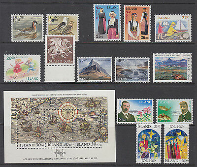 Iceland Complete Year 1989 Mint Never Hinged