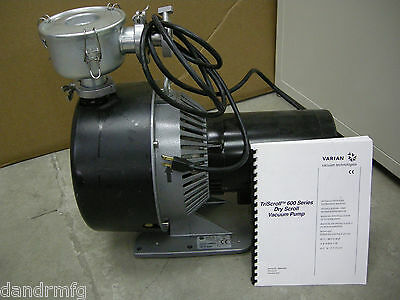 Varian Exppts06001 Triscroll 600 Dry Scroll Vacuum Pump