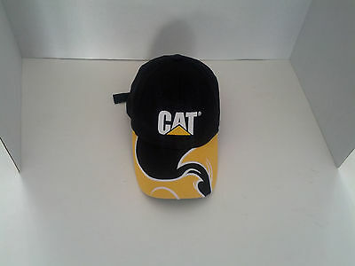 caterpillar Cat embriodered front logo black and yellow cap hat adjustable back