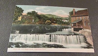 Old Postcard  CLAREMONT, NEW HAMPSHIRE   {SUGAR RIVER AND FALLS}