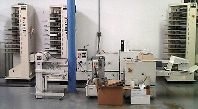 CP Bourg BST 10-Bin-Collator/TD-T Stitcher/PA-T Folder/TR-T Trimmer/DT-T Jogger