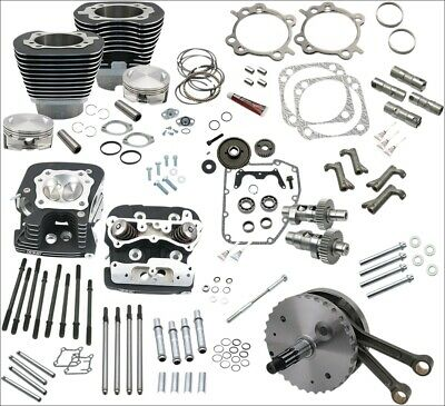 """S&S Cycle 124"""" Hot Set-Up Kit w/ Big Bore Cylinders Cams Pistons Harley 99-06"""