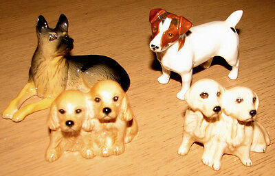 A Collection Of Vintage Beswick Dogs Alsatian Spaniels Labradors Jack Russell