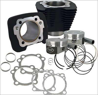S&S Cycle 1250CC Flat Top Black Big Bore Conversion Kit Harley Sportster 86-15