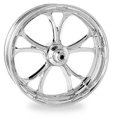 Performance Machine Chrome 26x3.5 Front Dual Disc Luxe Wheel Harley FLH W/ ABS