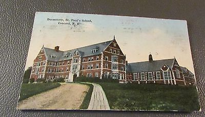 Old Postcard  CONCORD, NEW HAMPSHIRE   {ST.PAUL'S SCHOOL-DORMITORY--1915}