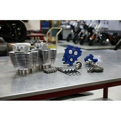 """S&S Cycle Power Package 100"""" Silver Big Bore Kit w/ 585 Gear Cams 99-06"""