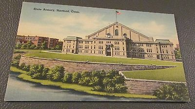 Old Postcard-  HARTFORD, CONNECTICUT  { STATE ARMORY}