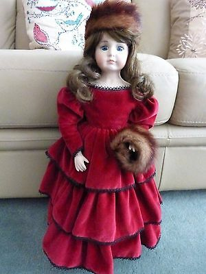 """OOAK Musical Porcelain Doll with Handmade Clothes 21"""" High"""