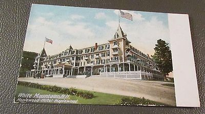 Old Postcard  WHITE MTS., NEW HAMPSHIRE   { THE MAPLEWOOD HOTEL}