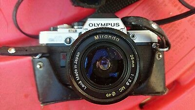 olympus vintage camera with leather case miranda lens