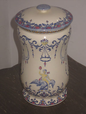 Rare Et Sublime Pot A Pharmacie En Faience De Gien Decor Rouen Piece Numerotee