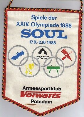 Orig.pennant    Olympic Games SEOUL 1988 - TEAM GDR / East Germany  !!  RARE
