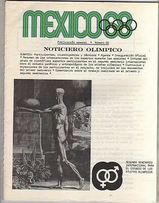 Orig.Olympic News / Preview   Olympic Games MEXICO 1968  -  Nr. 69  !!   RARE