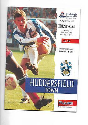 1994/5 Huddersfield Town v Brentford (Play off Semi Final) football programme