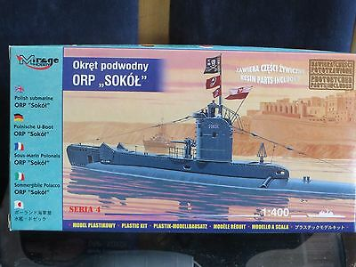 """maquette 1/400 Sous-marin """" ORP,,SOKOL """""""" marque mirage hobby"""