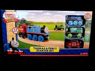 Thomas and Friends Wooden Railway Thomas and Percy Starter Set,Fisher Price