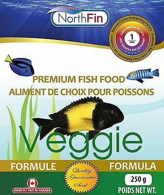 NORTHFIN VEGGIE 1 mm 250g Mbuna Tropheus Algae Scraping Premium Fish Food