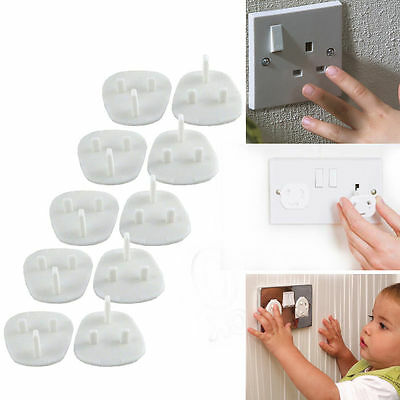 10pc Main Electrical Plug Socket Safety Covers Baby/child proof Safty Protector