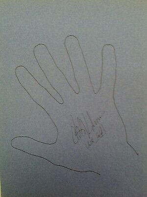 """Olympic Gymnast 1984 Olympic Games Peter Vidmar Signed 8""""x11"""" Hand Outline"""