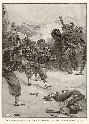 Antique Print, Italy, Battle Of Mentana, French Zouaves 1867