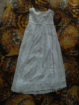 jj12 LATE VICTORIAN CHRISTENING COTTON GOWN WOW!