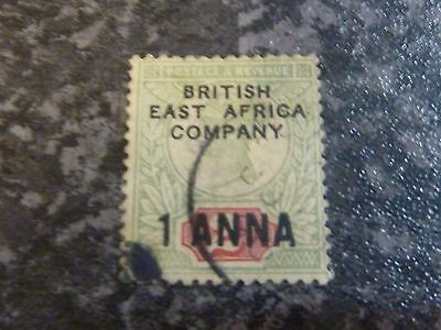British East Africa Company Postage Revenue Stamps Sg2 1A On 2D Fine Used