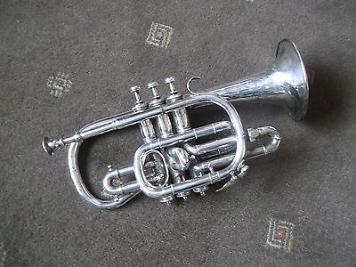 "VINTAGE HAWKES & SON ""THE CLIPPERTONE"" CORNET circa 1920"