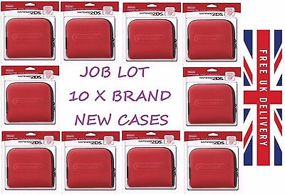 JOB LOT 10 x NINTENDO 2DS CARRYING CASE CARRY TRAVEL WHOLESALE RESELLER CLEARANC
