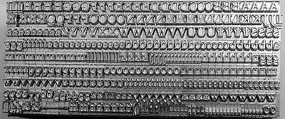 12 point Old Style Letterpress Metal Printing Type, upper & lower case