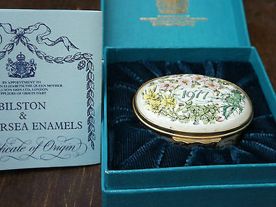 Halcyon Days Bilston and Batterson Enamels Trinket Box 1977 A Year to Remember