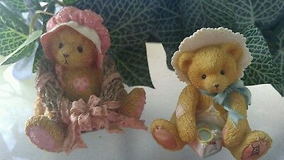 2 Collectible Numbered Cherished Teddies Priscilla 1992 and Bobbie  1993