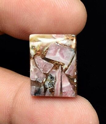 Excellent !  13.50 Cts. Natural Copper Rhodochrosite Cushion Cab For  Pendant