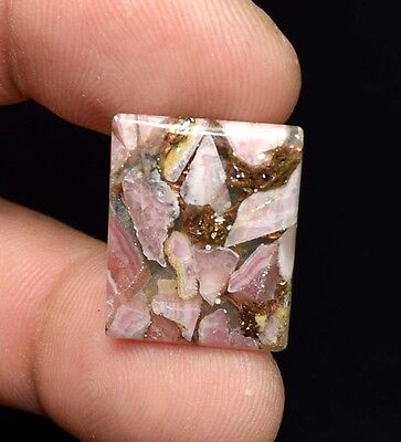 Excellent !  11.55  Cts. Natural Copper Rhodochrosite Cushion Cab For  Pendant