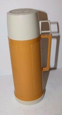 """Vintage King Seeley Thermos Butterscotch Yellow 10"""" Tall"""