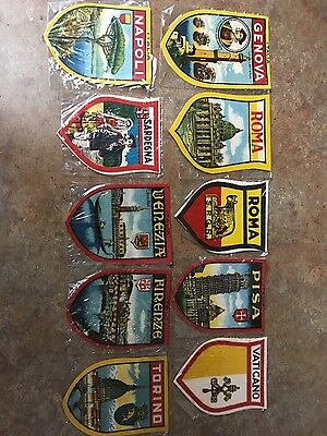 Italy Italia Europe Souvenir Travel Vintage Badge Patches Lot Of Patches