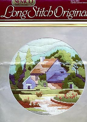 Semco Long Stitch – Cooks Cottage. Partially Started. See Pictures. 29cm round