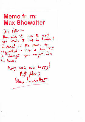 Casey Adams - Max Showalter  Film actor Composer Hand Signed Photo Letter and CV