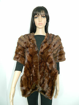 Russian Squirrel Fur Collar Stole Scarf Cap
