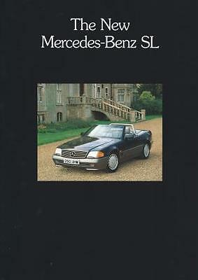Mercedes Benz SL Brochure 8 Page Fold Out Poster inc 300SL 300Sl-24 500SL