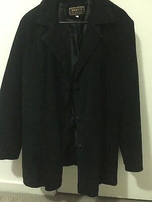 Men's size L Black Suede Leather Jacket - Siricco