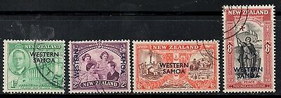 (Ref-9474) Western Samoa 1946 Peace Issue SG.215/218 Set of 4  Used