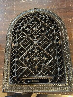 Ca 35 Antique Cast-Iron Arched Very Decorative Heating Great 10.25 X 14
