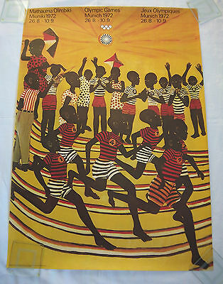 Orig.poster  Olympic Games MÜNCHEN 1972 // 84 x 60 cm / Special Edt. 1  !!  RARE