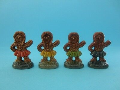 RARE WADE WHIMSIES FOUR GINGERBREAD GIRLS FULL SET *Mint Condition*