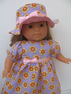 "Clothes for Mademoiselle Miss Corolle14""Doll Dress,Hat"