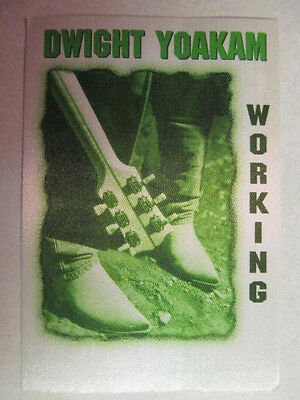 Dwight Yokam Fabric Backstage Pass 2001 Tour South Of Heaven West Of Hell Cd Era