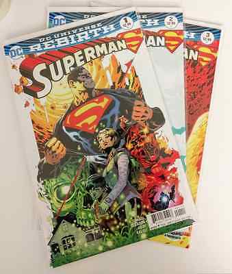 Superman #1, #2, And #3 Dc Rebirth 2016 1St Print