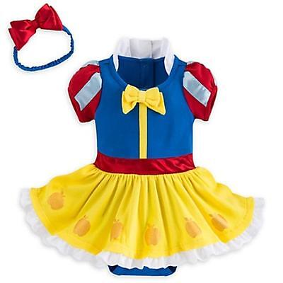 Disney Store Snow White Baby Costume Outfit Bodysuit 9-12 Months, New with Tags!